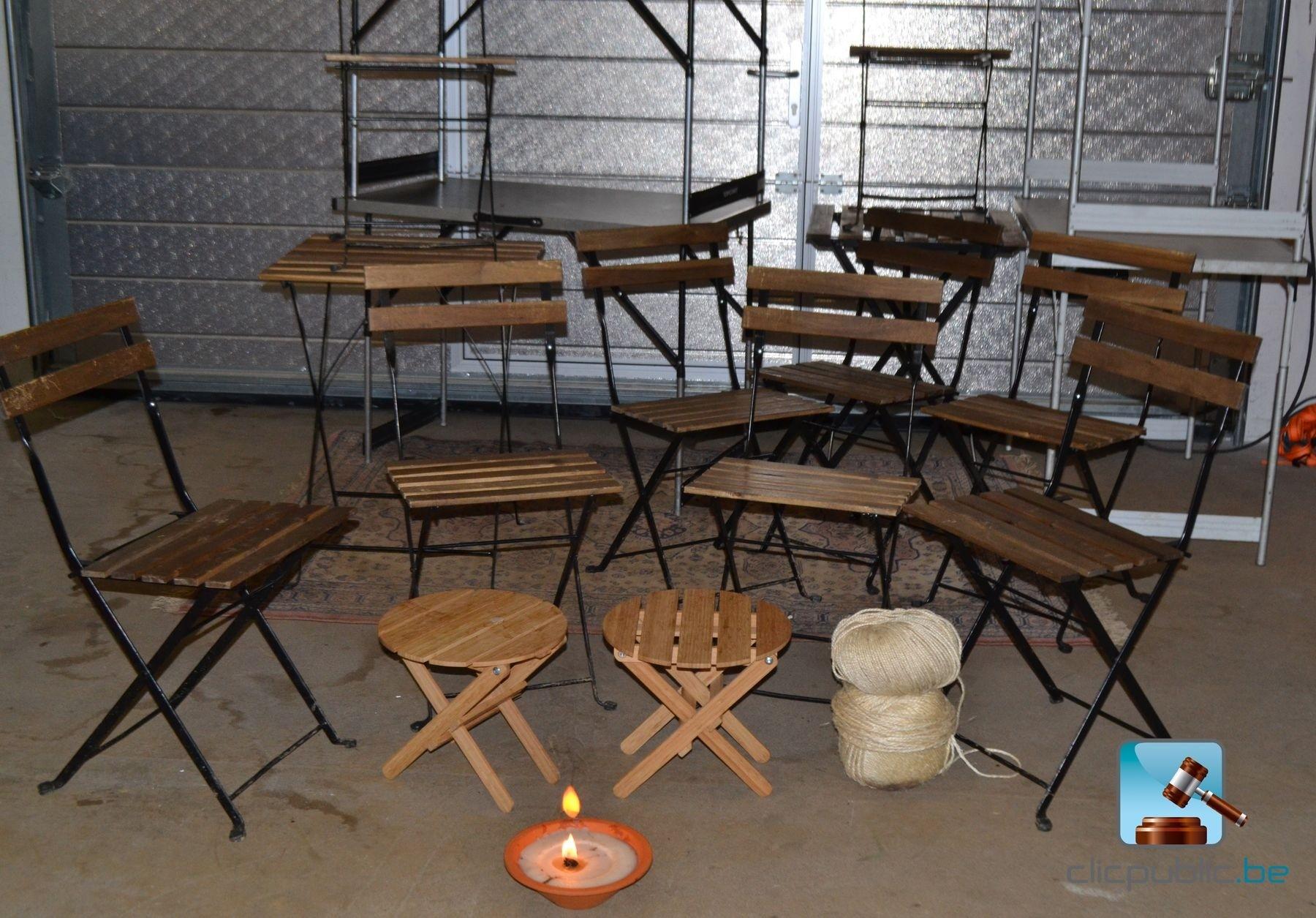 Horeca meubilair tafels en stoelen ref 4 vendre sur for Meubilair horeca